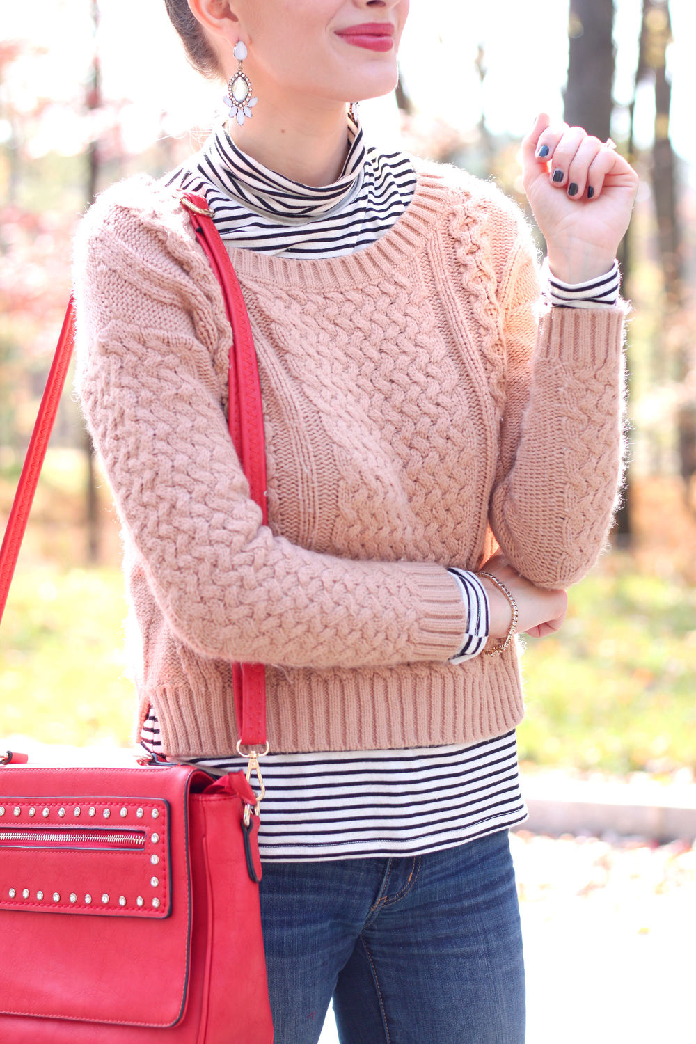 Camel and Stripes- Enchanting Elegance