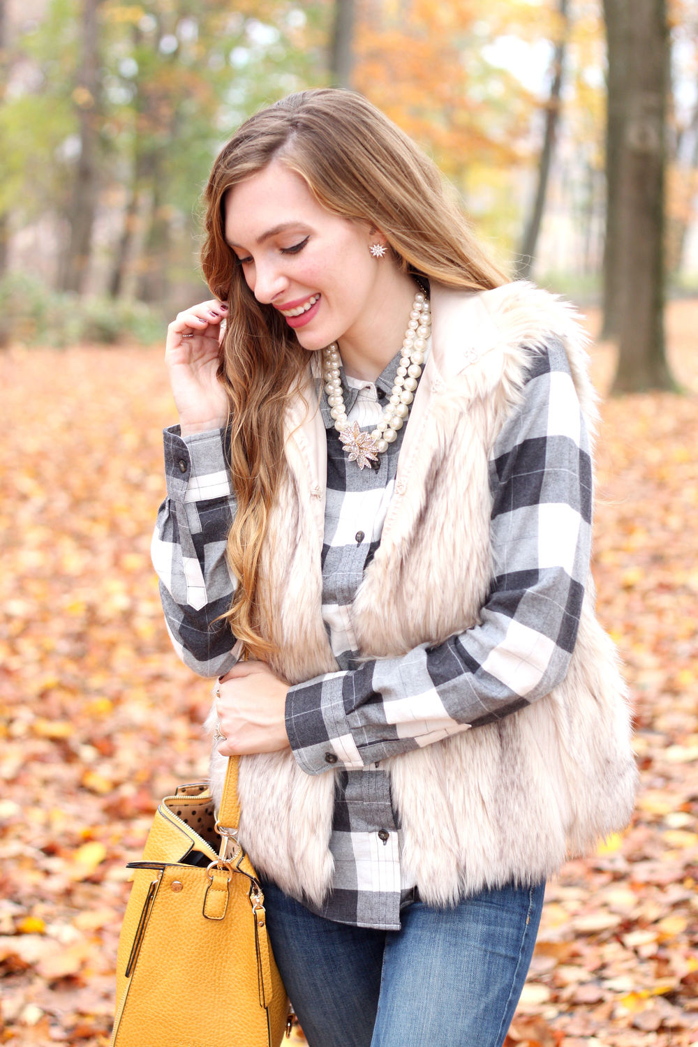 Plaid, Fur, and Sparkle- Enchanting Elegance