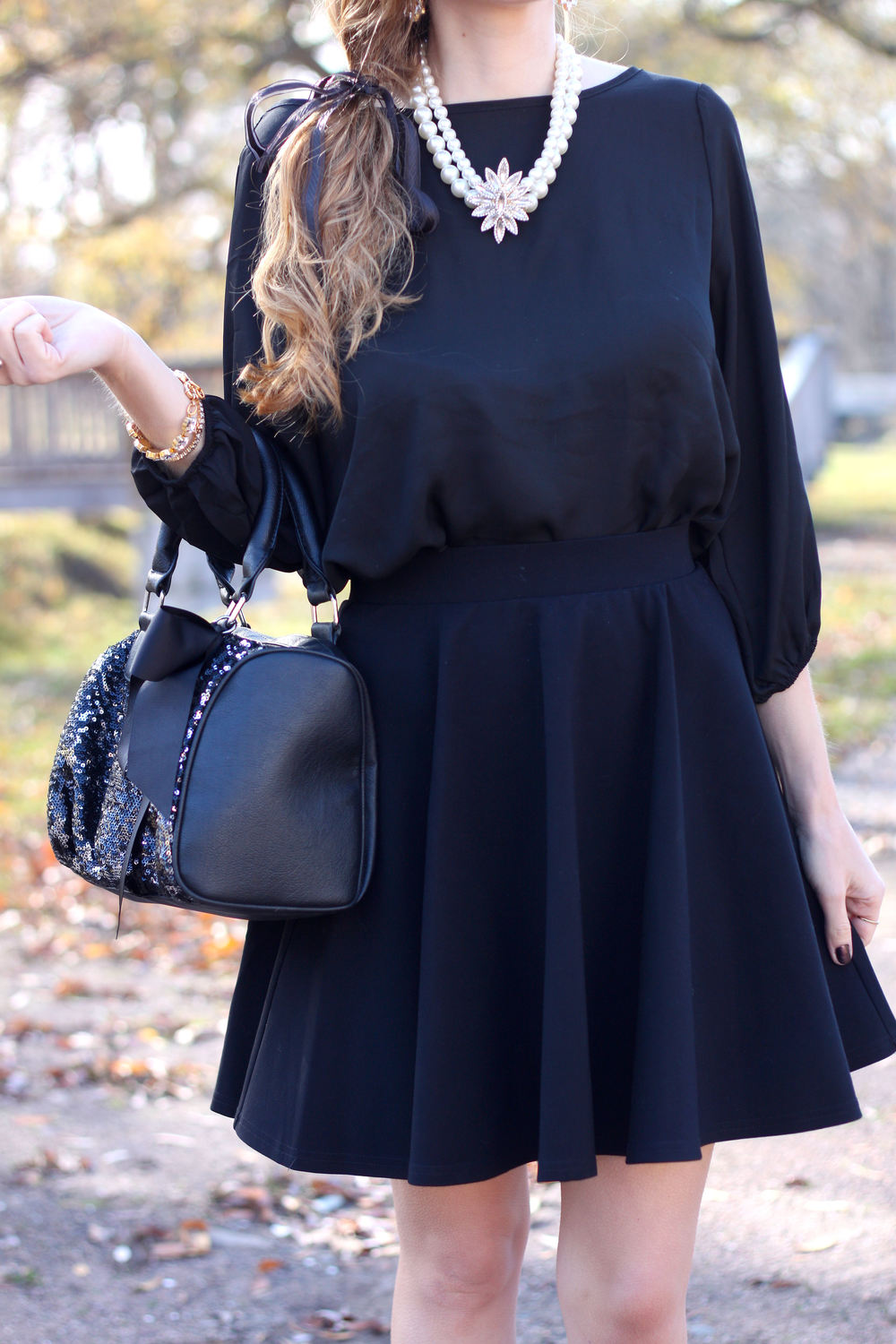 Bow Back Blouse- Enchanting Elegance