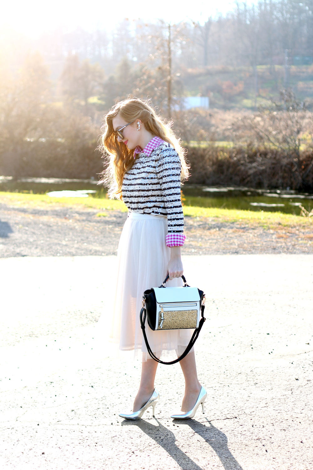 Gingham, Stripes, and Tulle- Enchanting Elegance