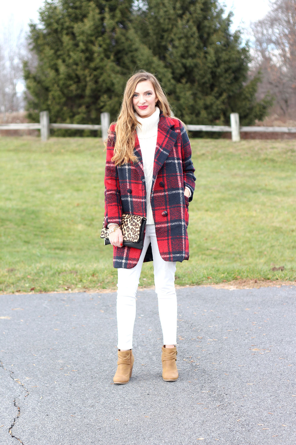 Winter White + Plaid- Enchanting Elegance