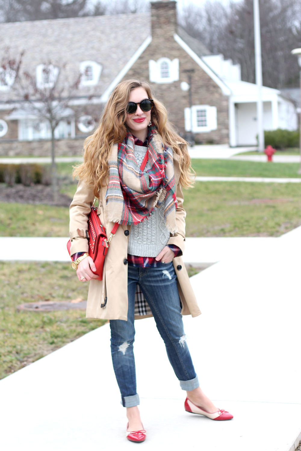 Plaid on Plaid- Enchanting Elegance