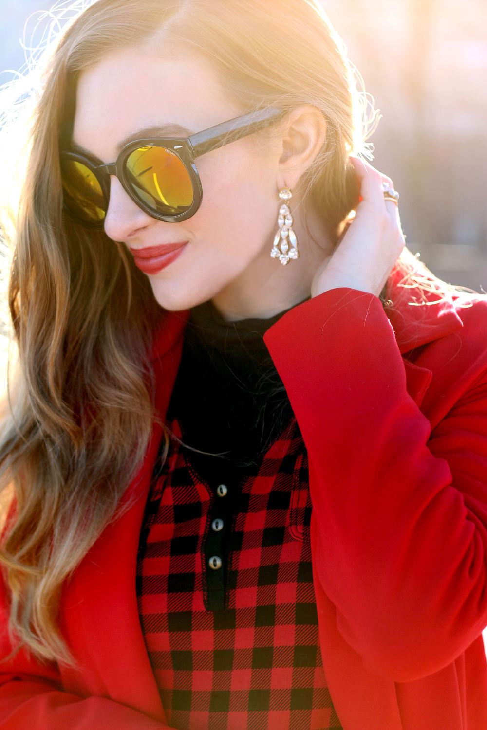 Red Jacket- Enchanting Elegance