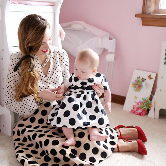 Pretty In Polka Dots- Enchanting Elegance