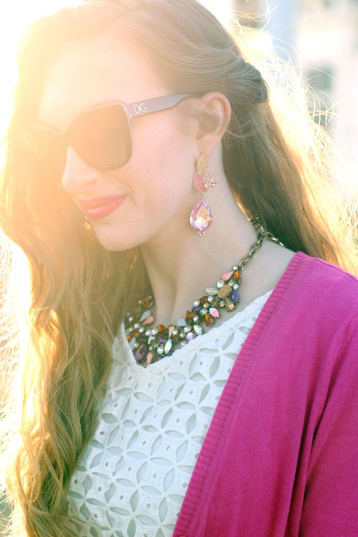 White Eyelet & Pink- Enchanting Elegance
