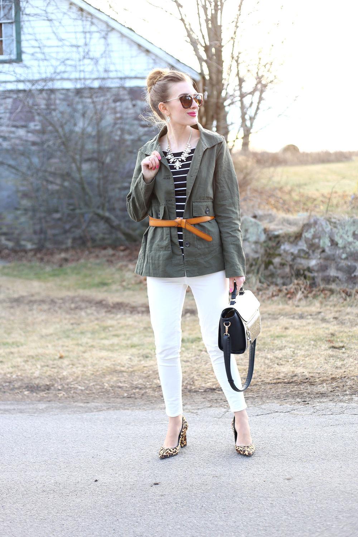 Olive Green & Stripes- Enchanting Elegance