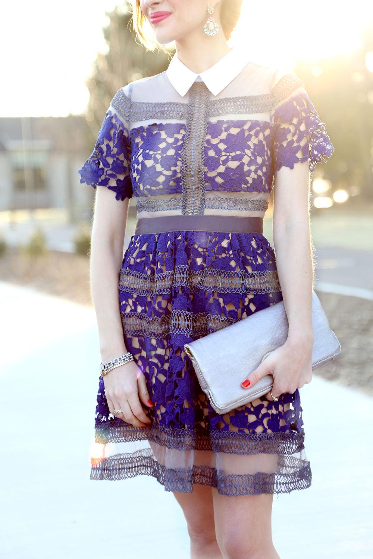Blue Crochet Dress- Enchanting Elegance