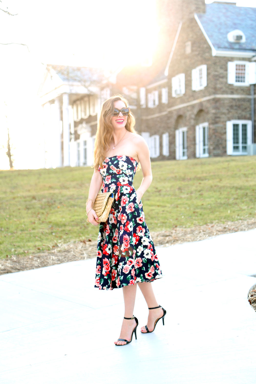 Floral Swing Dress- Enchanting Elegance
