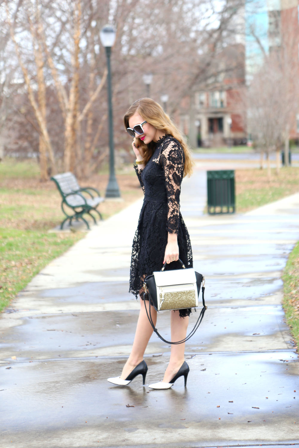 Black Lace Dress- Enchanting Elegance