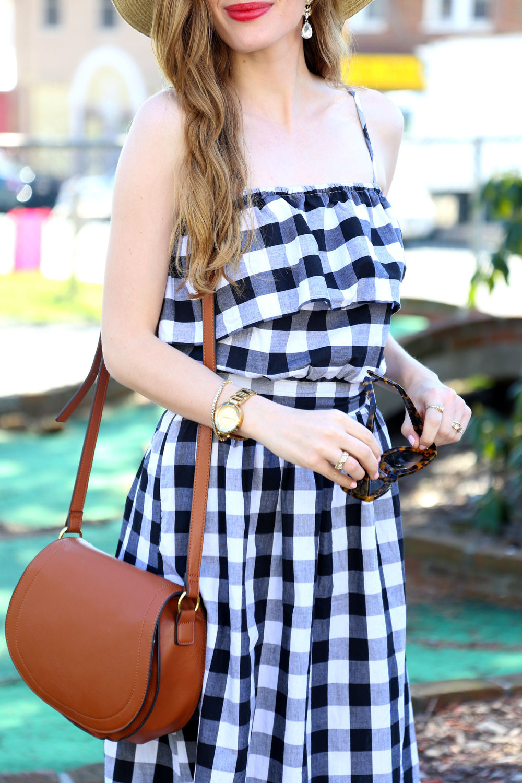 Gingham Dress- Enchanting Elegance