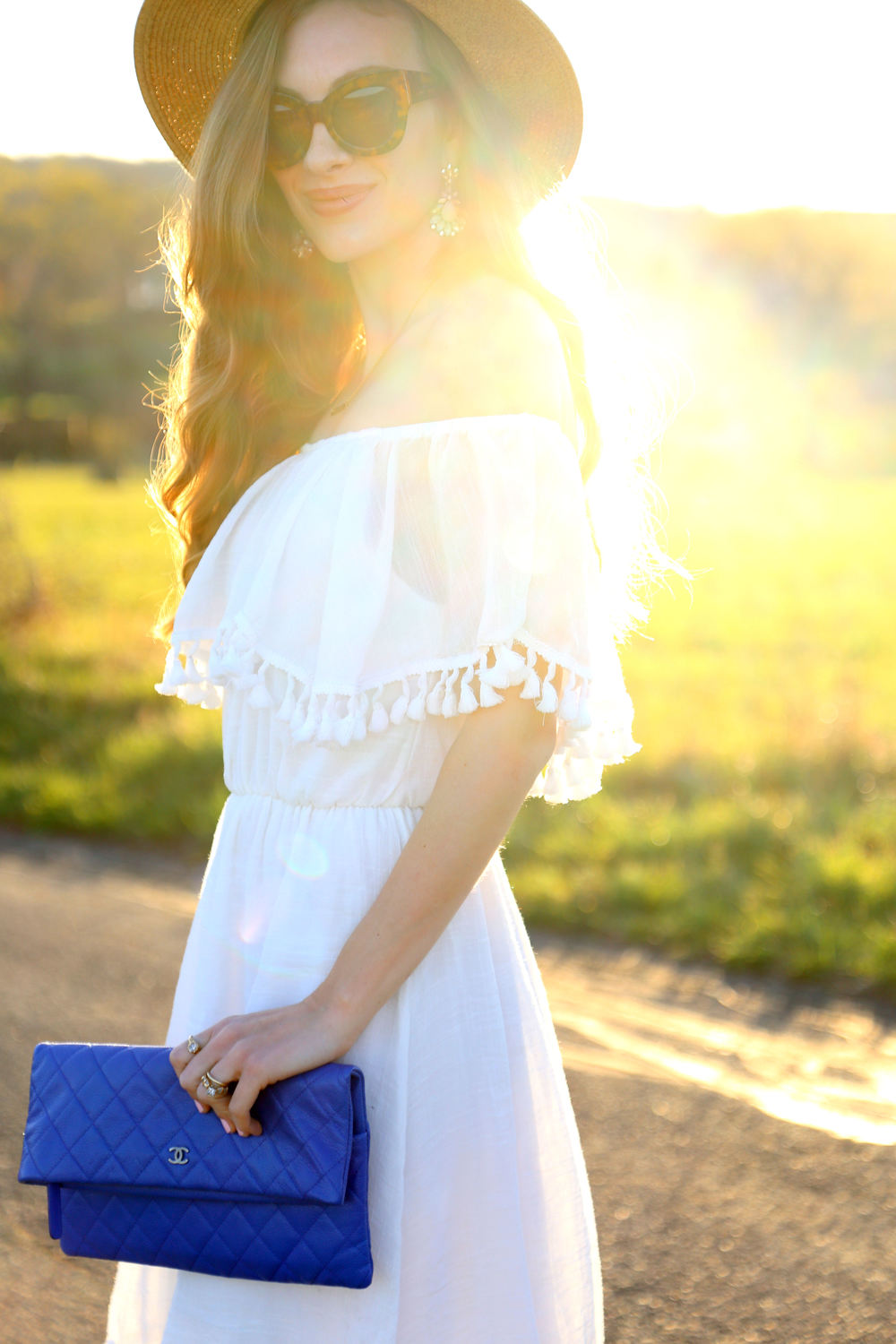 Off The Shoulder + Tassel Dress- Enchanting Elegance