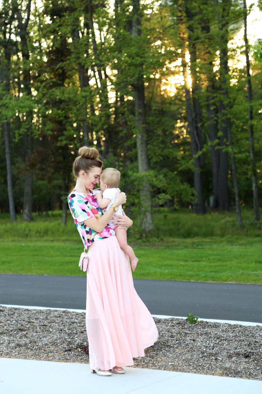 Pink Chiffon Skirt- Enchanting Elegance