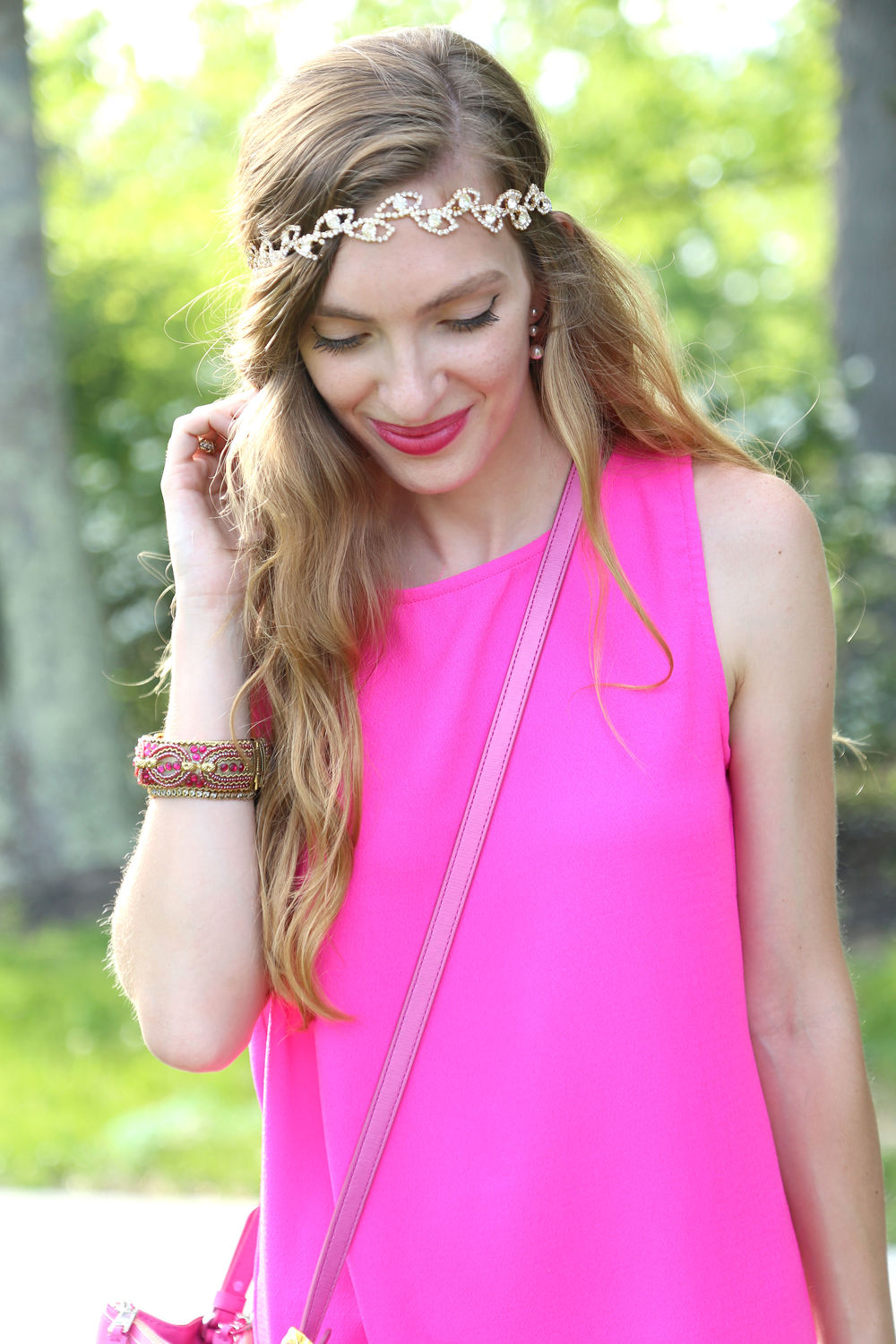 Pink Scallops + Headbands of Hope- Enchanting Elegance