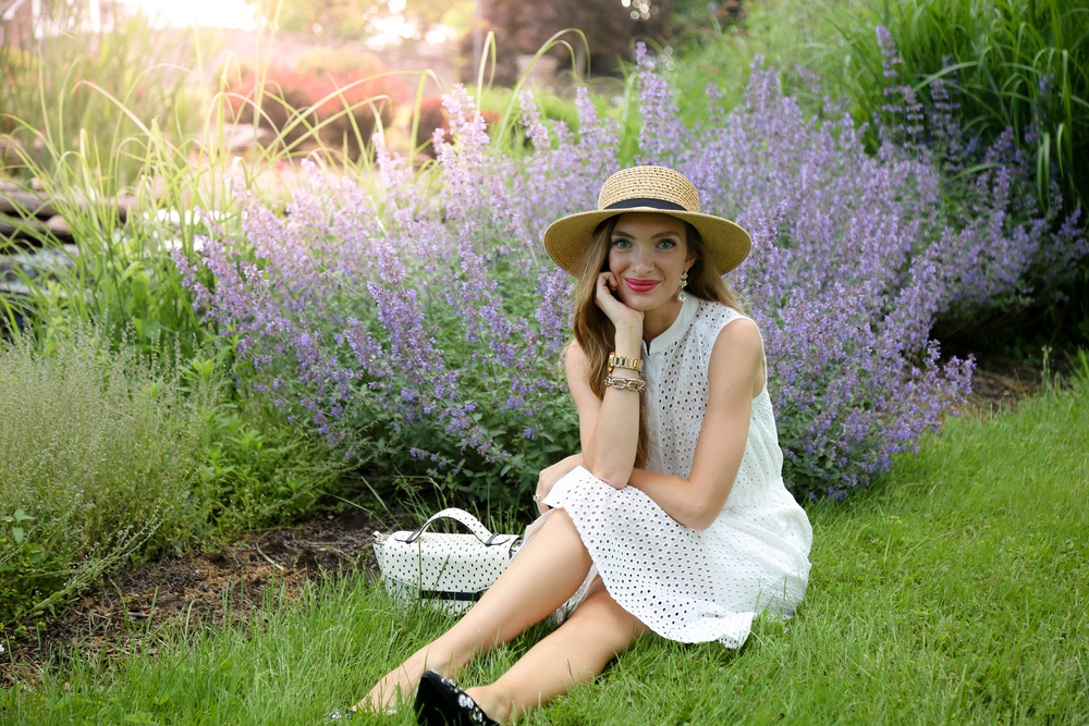 White Eyelet Dress- Enchanting Elegance