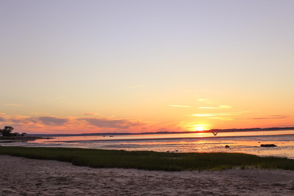 Sunset at Barnstable Bay- Enchanting Elegance