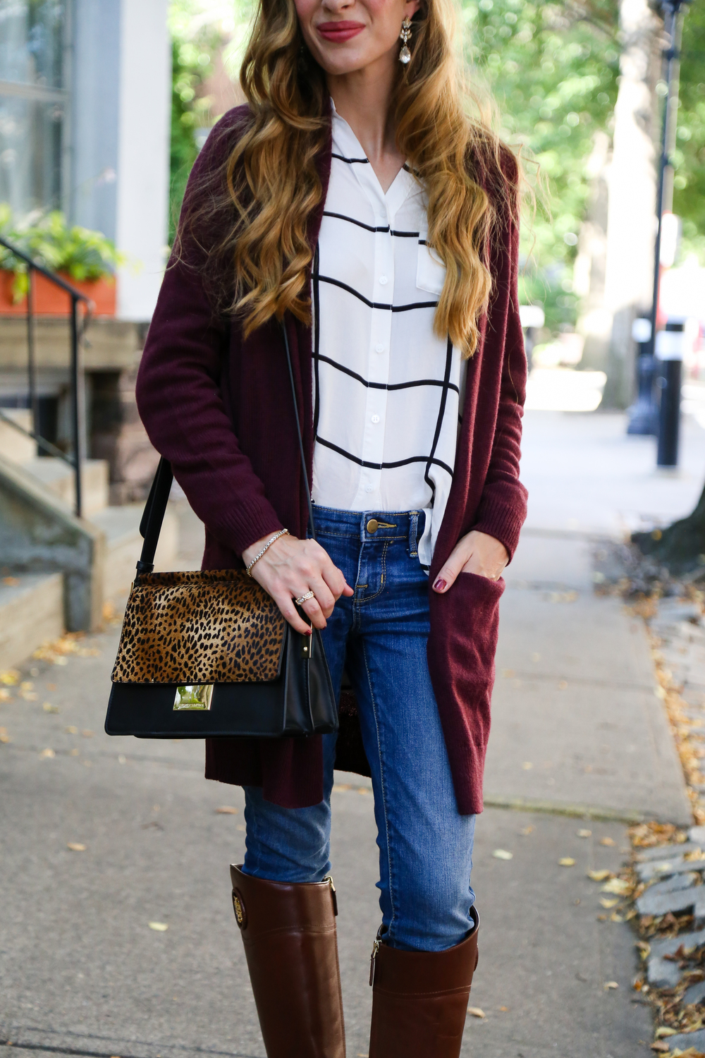 Cozy Cardi + Riding Boots- Enchanting Elegance