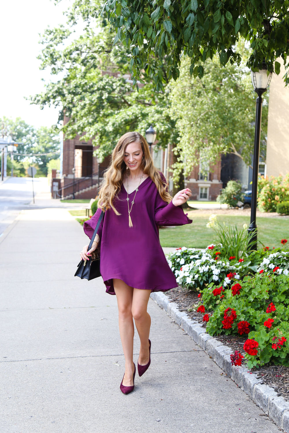Bell Sleeve Dress- Enchanting Elegance
