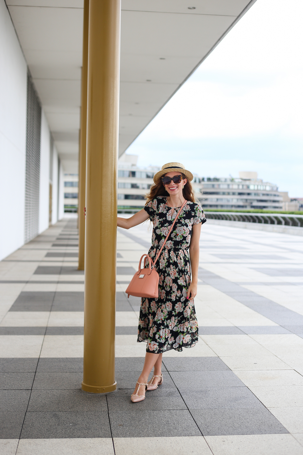 Dark Floral Dress // The Kennedy Center- Enchanting Elegance