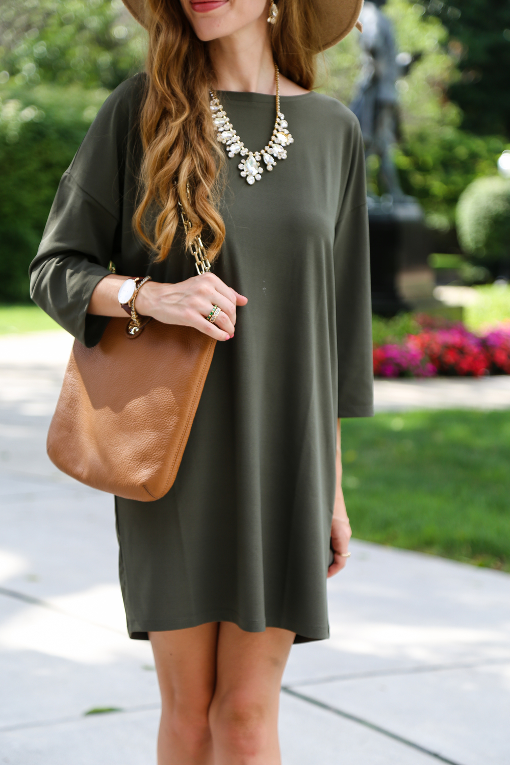 Olive Green Dress- Enchanting Elegance