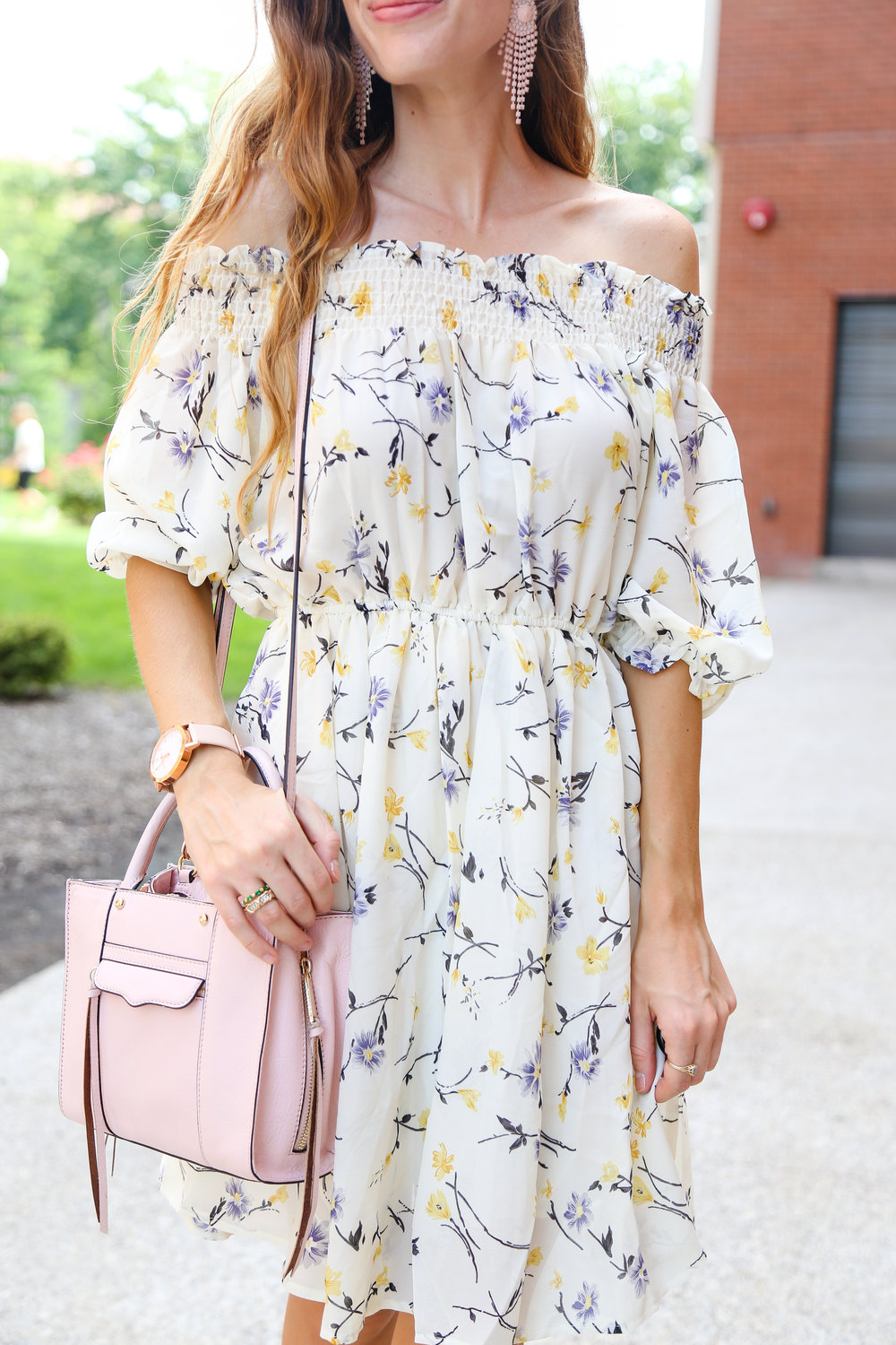 Off The Shoulder Floral Print- Enchanting Elegance
