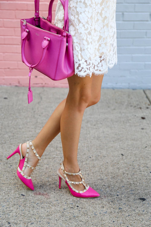 Black Bow Tie // Pops of Pink- Enchanting Elegance