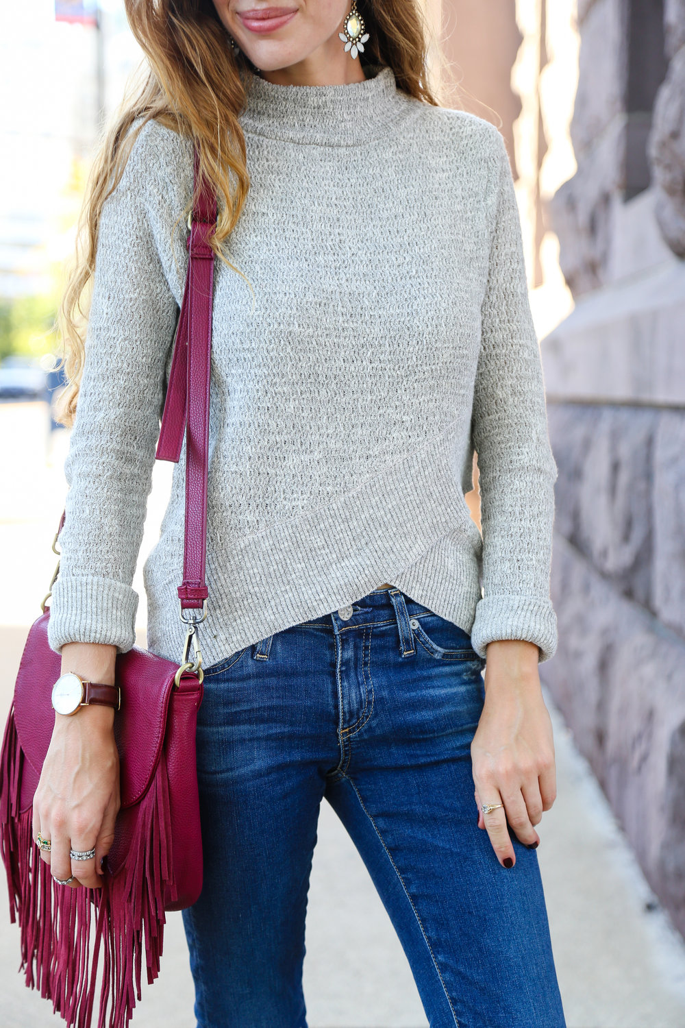 Crossover Sweater- Enchanting Elegance