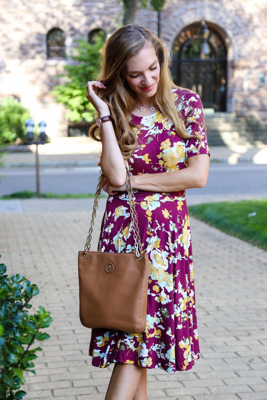 Burgundy Floral- Enchanting Elegance
