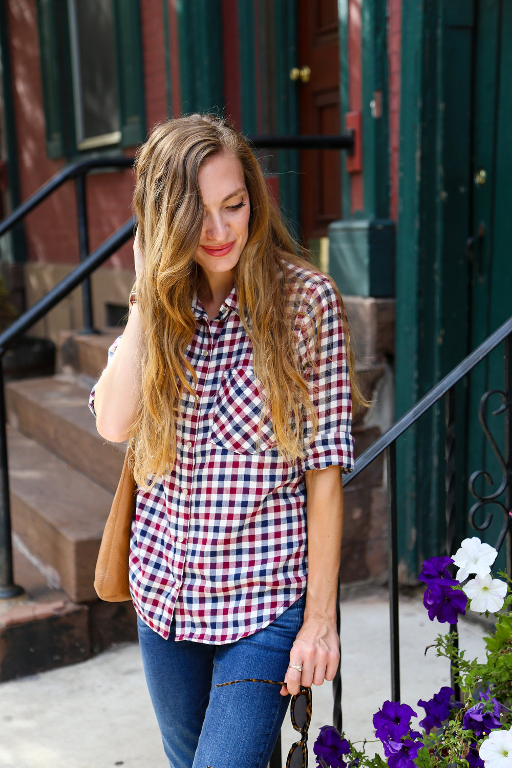 Red, White, and Blue Plaid- Enchanting Elegance