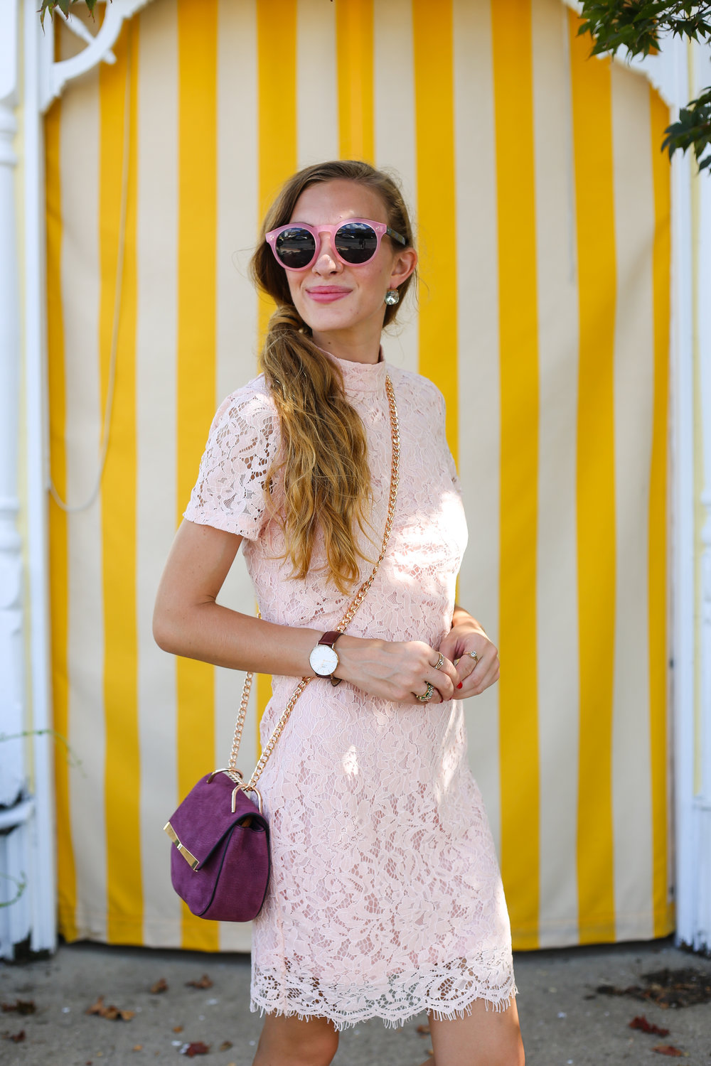 Pink Lace Dress- Encahnting Elegance