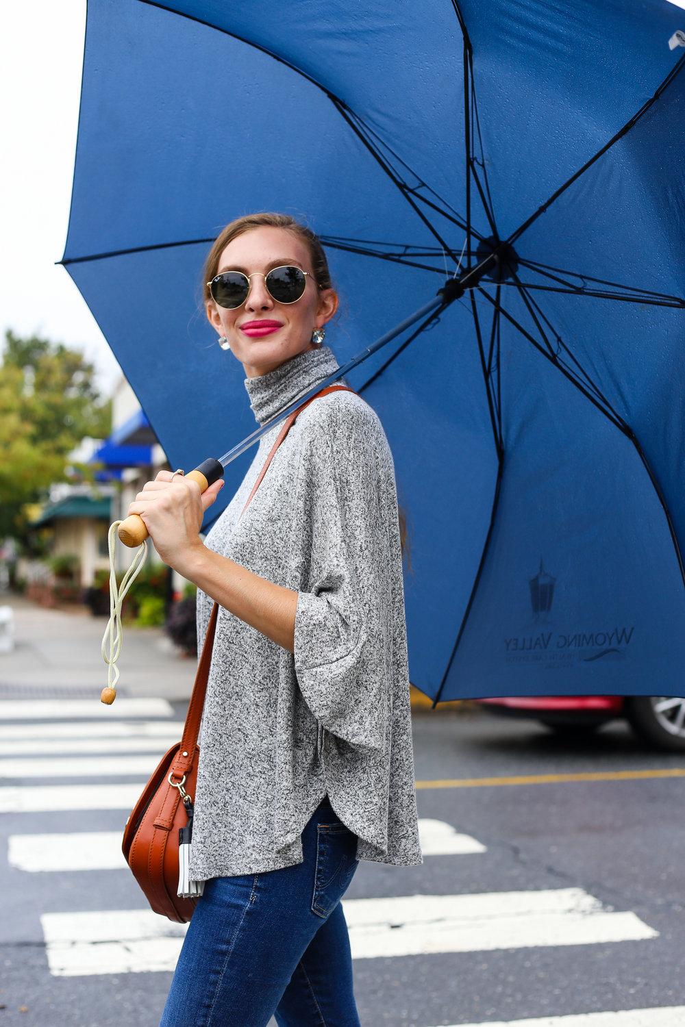 Marled Turtleneck // Rainy Days- Enchanting Elegance