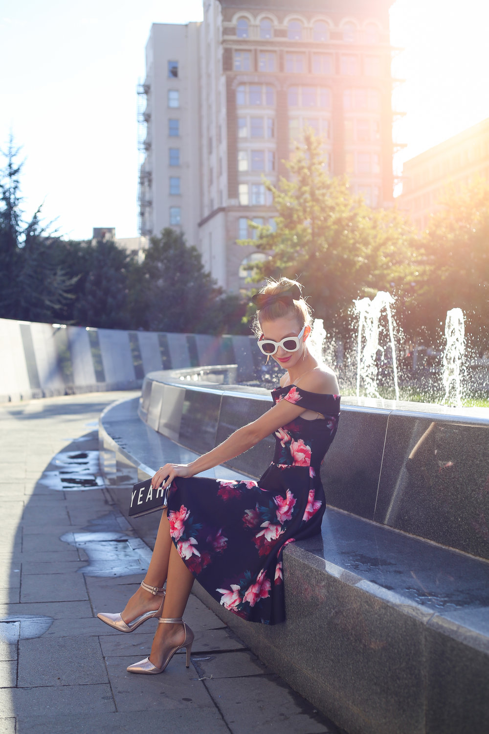 Dark Floral Dress- Enchanting Elegance