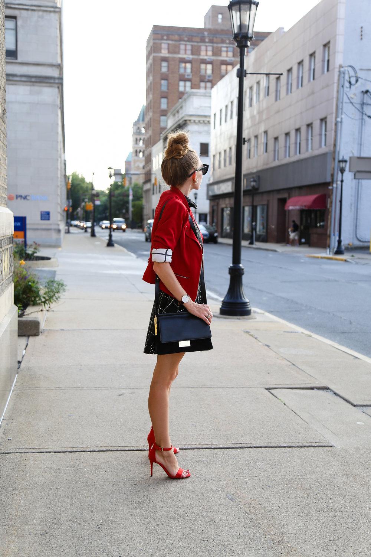 Red x White x Black- Enchanting Elegance