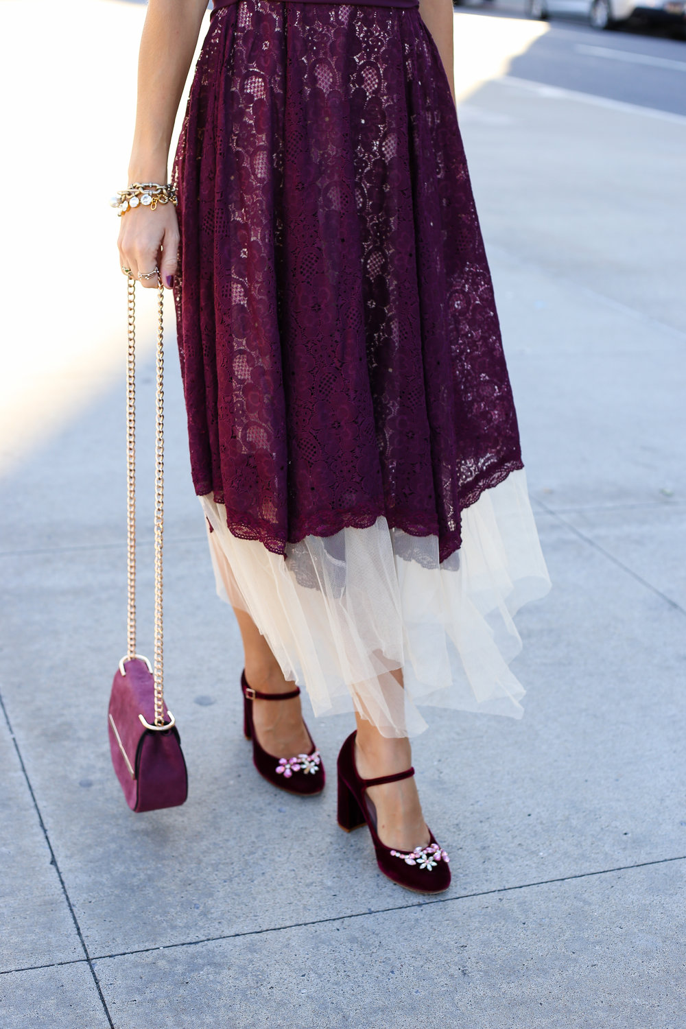 Berry Good Cardigan and Dress- Enchanting Elegance