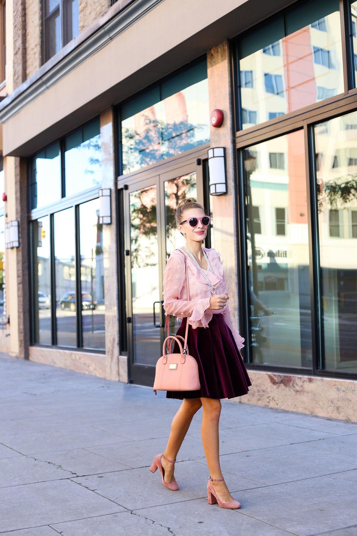 Blush, Burgundy, and Pearls- Enchanting Elegance