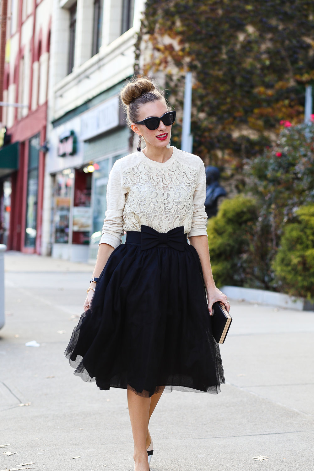Creamy Crochet And Tulle- Enchanting Elegance