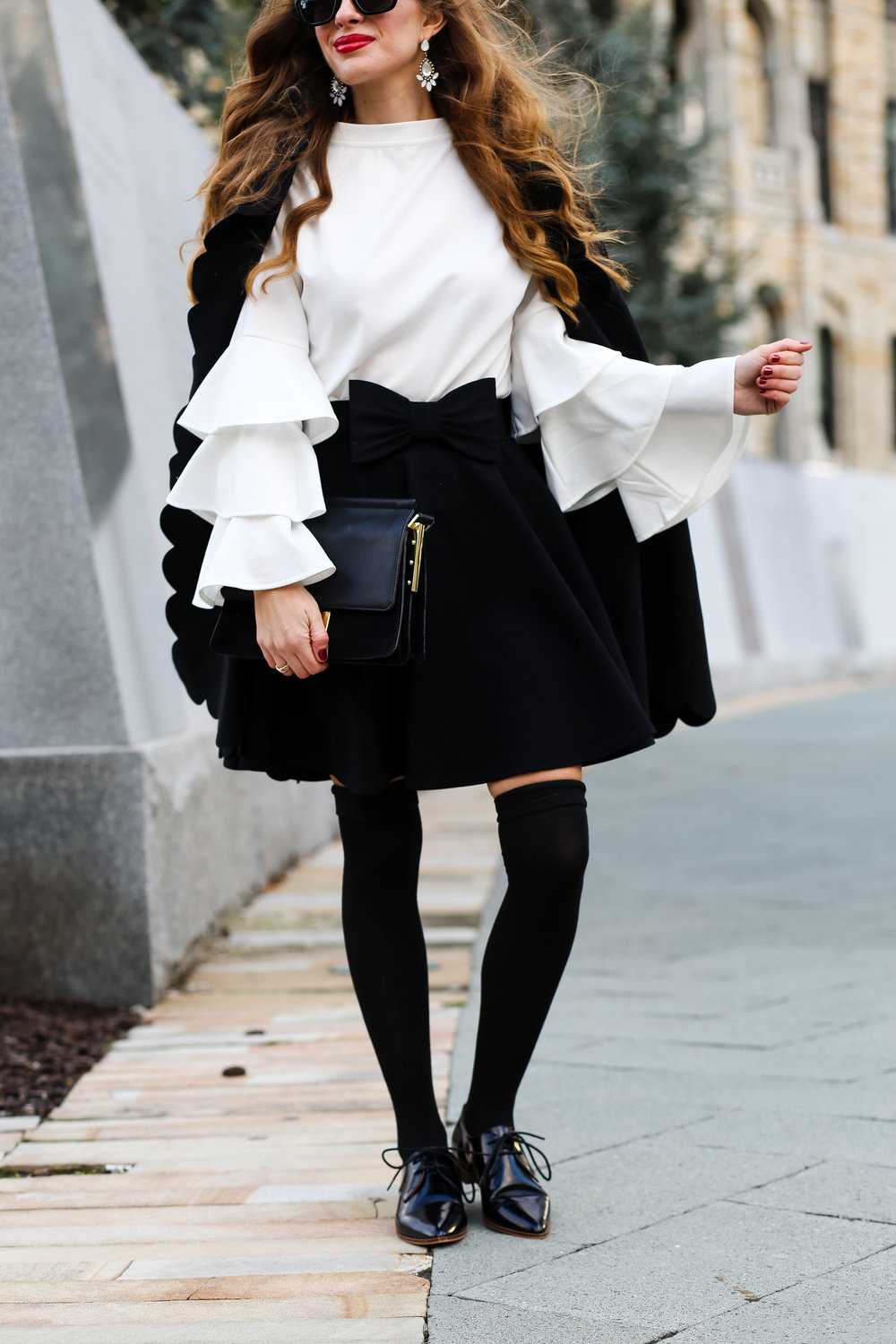 Bell Sleeves & Cape- Enchanting Elegance