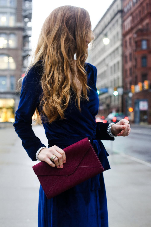 Blue Velvet Dress- Enchanting Elegance