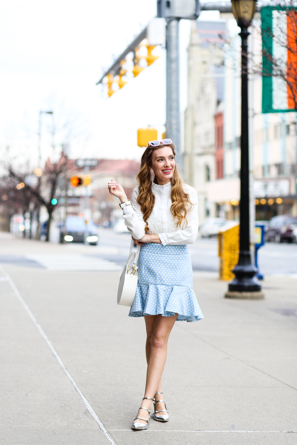Polka Dot Bud Skirt- Enchanting Elegance