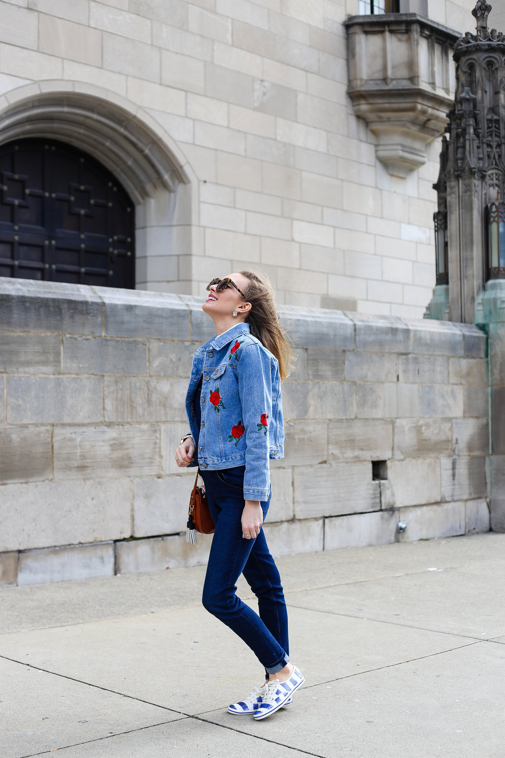 Embroidered Jean Jacket // Jean on Jean- Enchanting Elegance