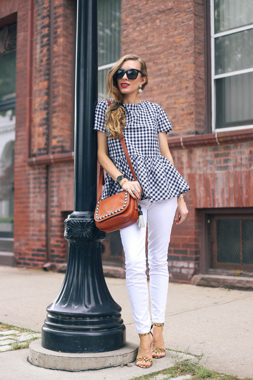 Bow Back Gingham Top- Enchanting Elegance