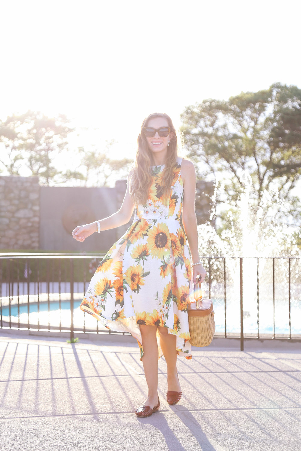 The Sunflower Dress- Enchanting Elegance