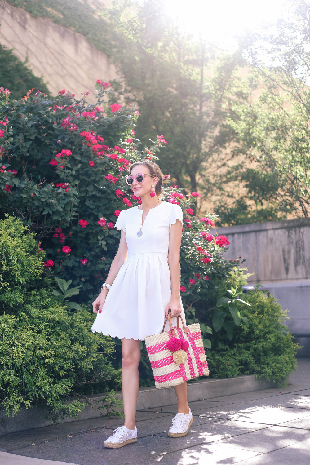 The White Scalloped Dress- Encahnting Elegance