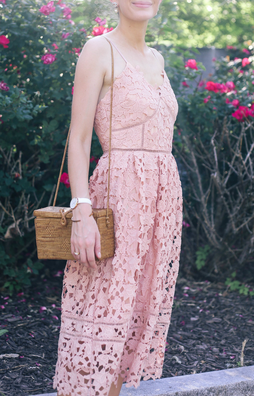 The Pink Midi Dress- Enchanting Elegance