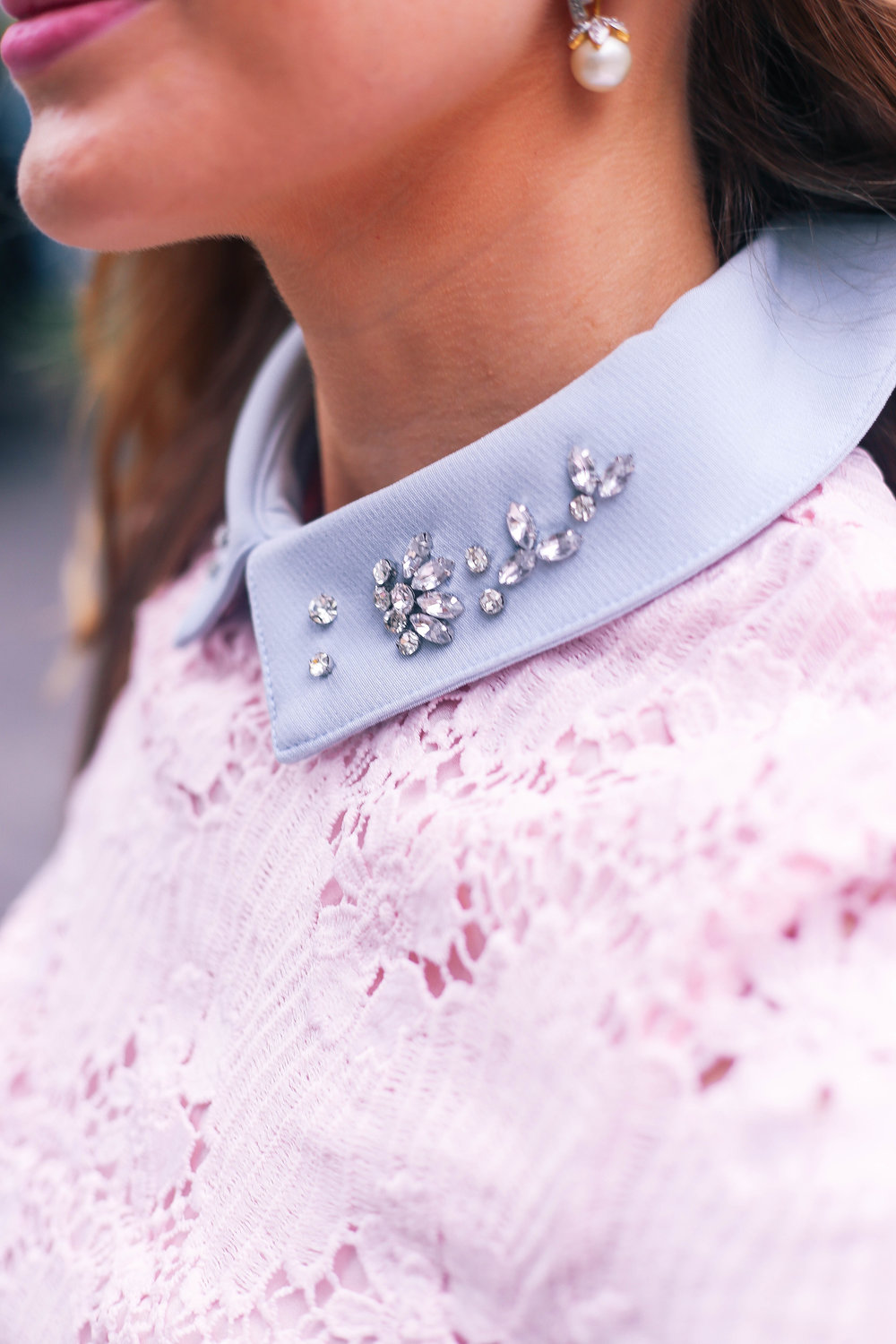 Floral Crochet Embellished Collar- Enchanting Elegance