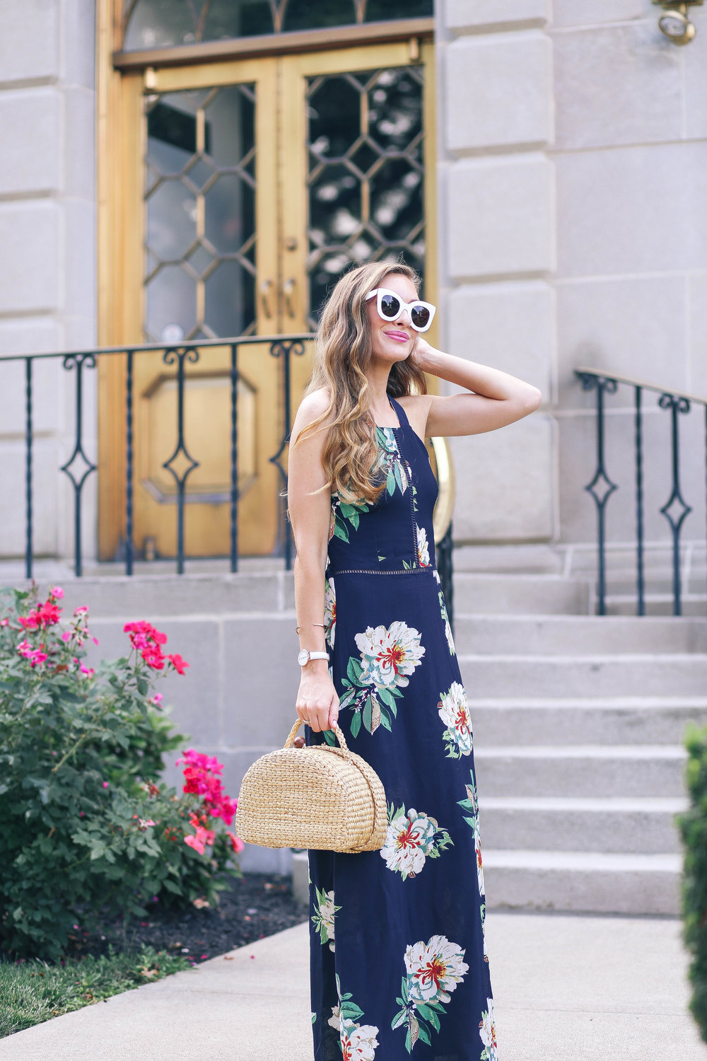 The Floral Maxi Dress- Enchanting Elegance