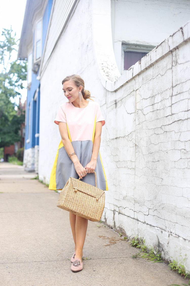 Lemon Aid Dress // Water Hyacinth Bag — Enchanting Elegance