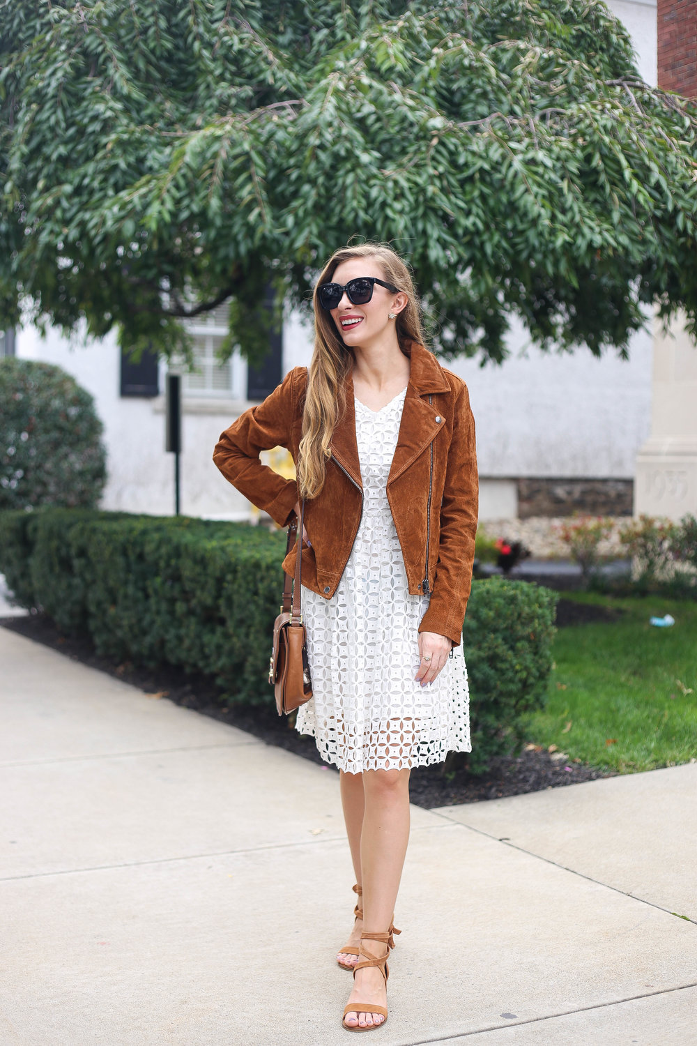 The Suede Jacket // Easy Transition- Enchanting Elegance