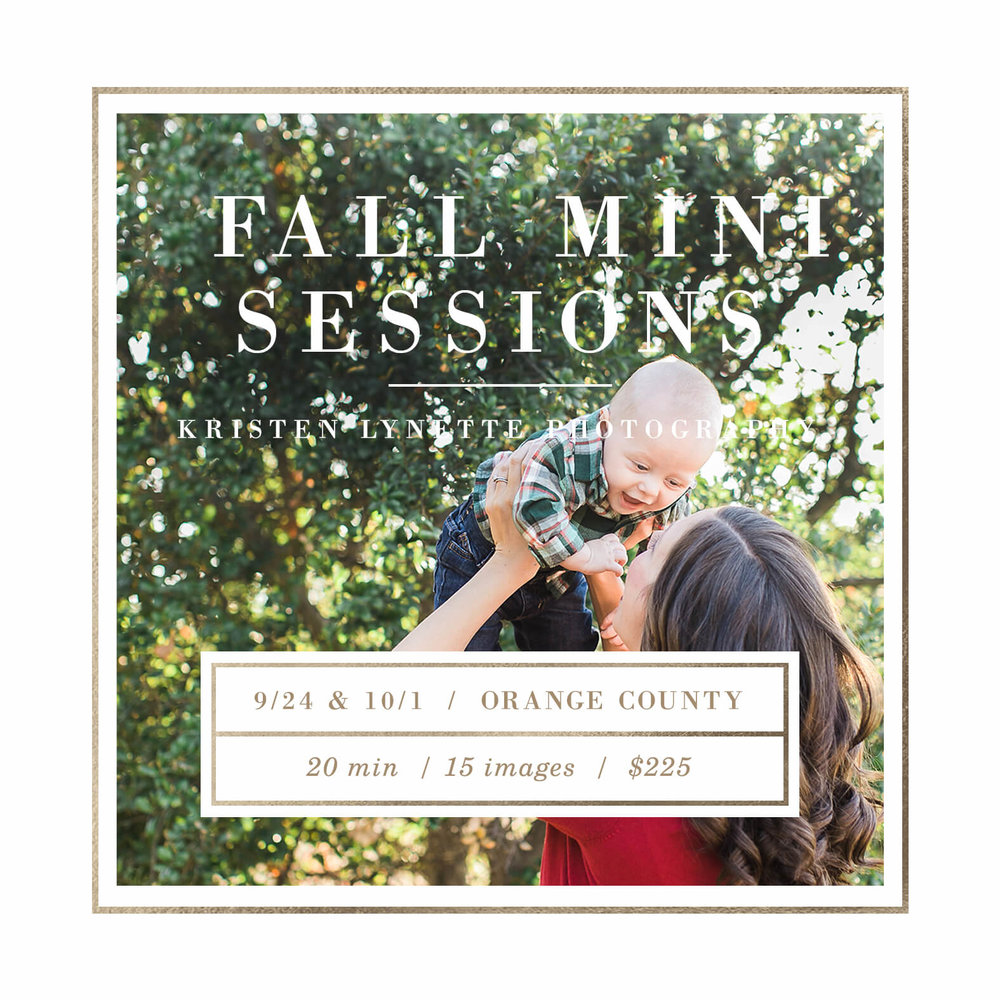 Orange County Fall Mini Sessions