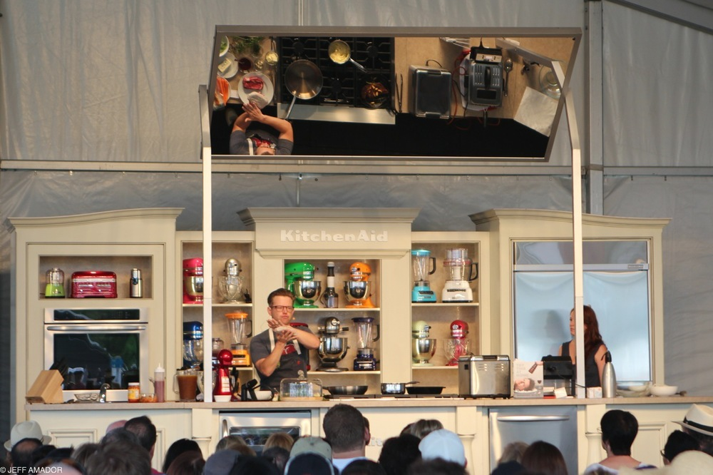 Chef Richard Blais cooking demo