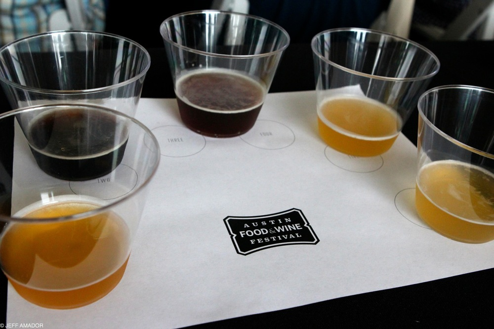 Beer samples from Hops Aboard!